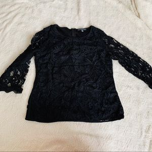 Adrianna Papell size medium black lace top lined